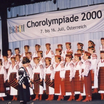 On stage of the Chorolympiade in Linz
