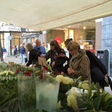 Flowers market in Utrecht