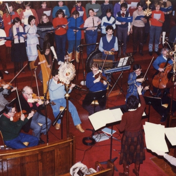 Christmas recording Eric Robertson and orchestra 1987